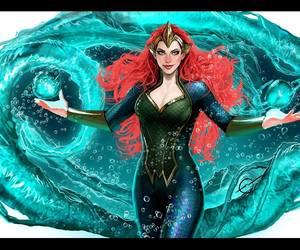queen of atlantis, dc comics, and mera image