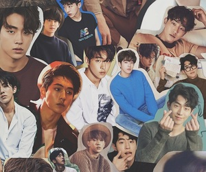 Collage, korean, and korean boy image
