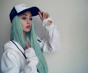 pastel, wig, and greenhair image