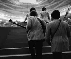 the beatles, the fab four, and tokyo japan concert image