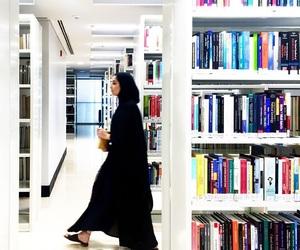 books, education, and hijab image
