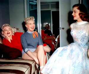 Marilyn Monroe, Betty Grable, and Lauren Bacall image