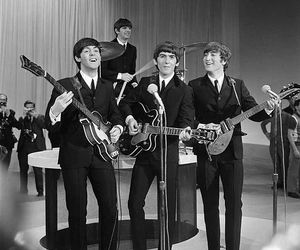 the beatles, the fab four, and on the ed sullivan show image
