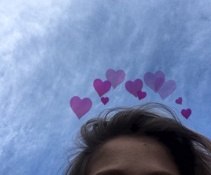 aesthetic, hair, and hearts image