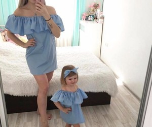 dress, baby, and blue image