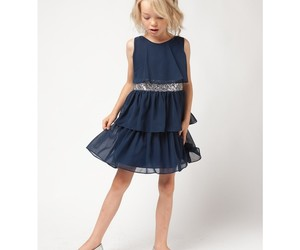 dress, dresses, and navy image