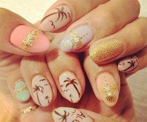 nails, summer, and Aloha image