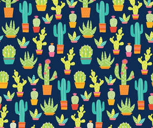 cactus, pattern, and art image