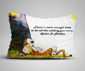 calvin and hobbes, gift, and kid image