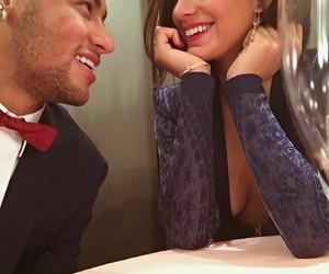 neymar, couple, and bruna marquezine image