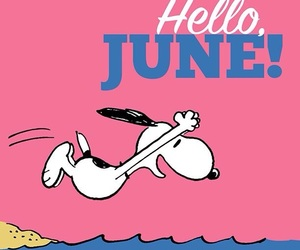 june, snoopy, and month image