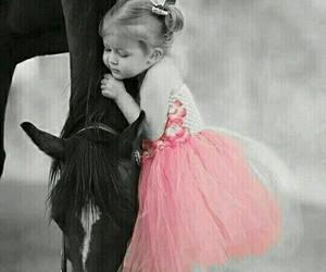 horse, child, and animal image