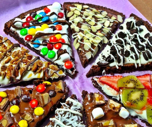 pizza, food, and chocolate image