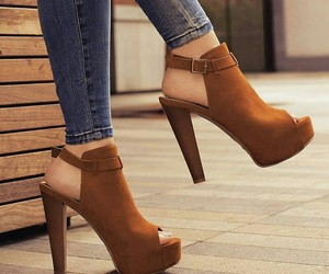brown, shoes, and stylé image