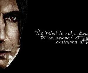 harry potter, snape, and quote image