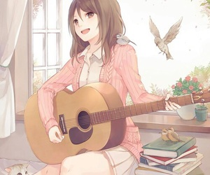 acoustic, beautiful, and guitar image
