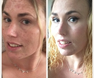 before and after, makeover, and makeup image