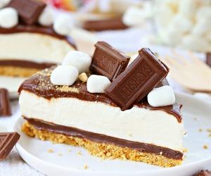cheesecake, sweets, and chocolate image