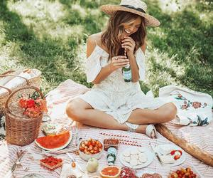 food, picnic, and girl image
