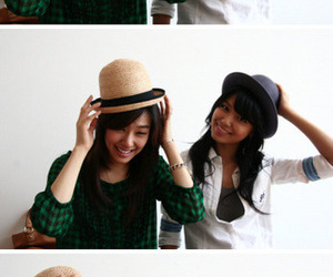 best friends, fedora, and snsd image