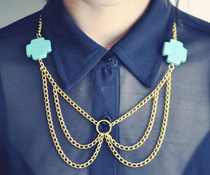 collar, gold, and necklace image