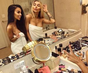 girl, makeup, and bff image