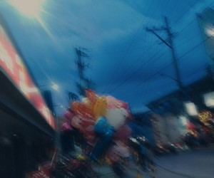 blurred, city, and photography image