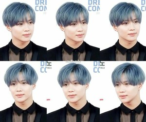 blue hair, kpop, and korean image