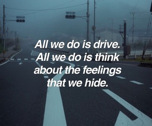 dark, drive, and feelings image