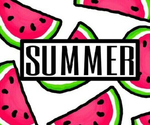 summer, background, and watermelon image