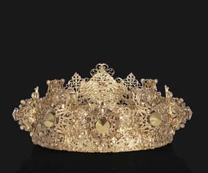 crown, gold, and royalty image