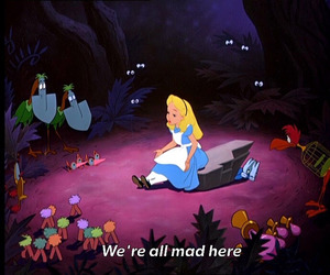alice in wonderland, disney, and forest image