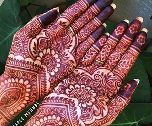 arabic, henna, and indian image