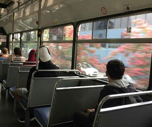 aesthetic, bus, and theme image
