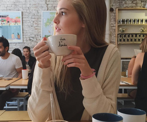 girl and coffee image