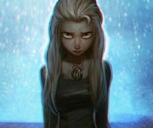elsa, frozen, and dark image
