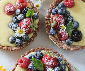 food, berries, and tart image