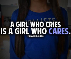 girl, care, and cry image