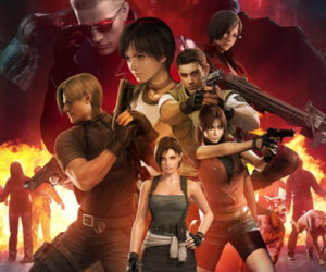 red, resident evil, and jill valentine image