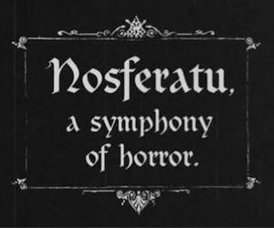 Nosferatu, horror, and vampire image