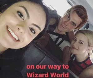 cole sprouse, lili reinhart, and kj apa image