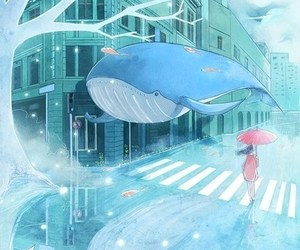 whale, anime, and art image
