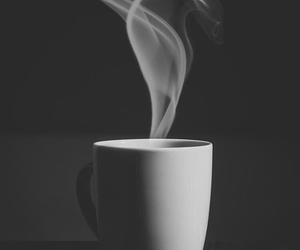 coffee, wallpaper, and black and white image