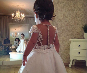 baby, dress, and wedding image