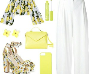 fashion, lemon, and Polyvore image