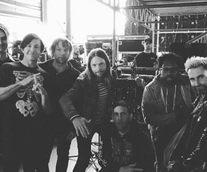 b&w, maroon 5, and mickey madden image