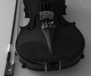 b&w, my, and violin image