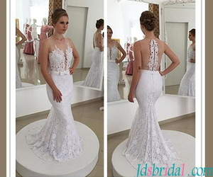 bridal gown, fishtail, and 2017 image