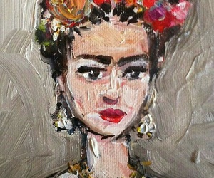 frida kahlo, art, and paint image