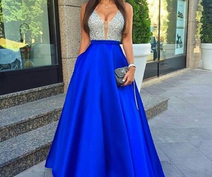 dress, blue, and prom dress image